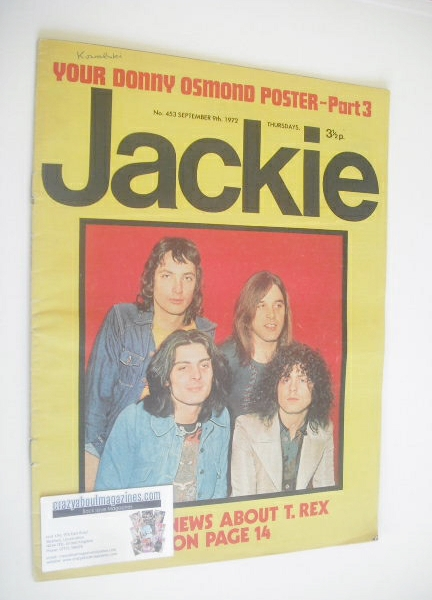 <!--1972-09-09-->Jackie magazine - 9 September 1972 (Issue 453 - T. Rex cov
