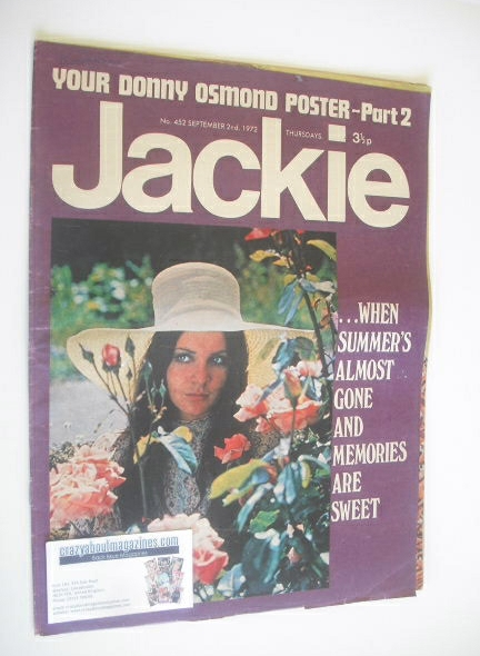 <!--1972-09-02-->Jackie magazine - 2 September 1972 (Issue 452)
