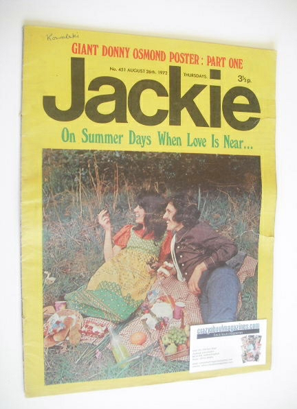 <!--1972-08-26-->Jackie magazine - 26 August 1972 (Issue 451)