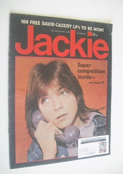 <!--1972-05-06-->Jackie magazine - 6 May 1972 (Issue 435 - David Cassidy co