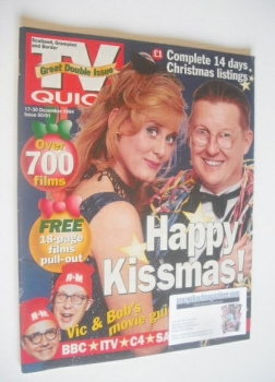 TV Quick magazine - Sarah Lancashire and Kevin Kennedy cover (17-30 December 1994)