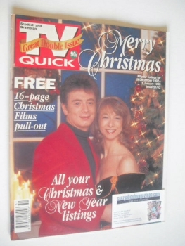 TV Quick magazine - Helen Worth and Sean Wilson cover (19 December 1992 - 1 January 1993)