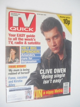 TV Quick magazine - Clive Owen cover (20-26 April 1991)