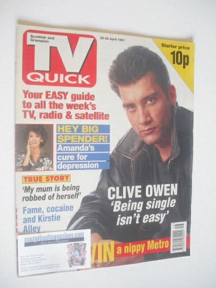 <!--1991-04-20-->TV Quick magazine - Clive Owen cover (20-26 April 1991)