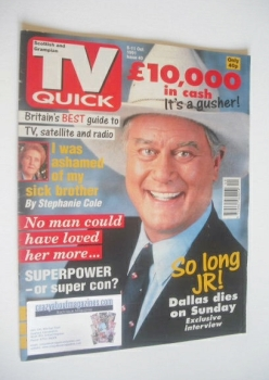 TV Quick magazine - Larry Hagman cover (5-11 October 1991)