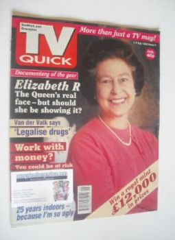 TV Quick magazine - Queen Elizabeth II cover (1-7 February 1992)