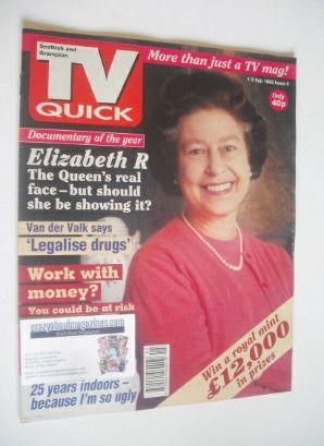 <!--1992-02-01-->TV Quick magazine - Queen Elizabeth II cover (1-7 February