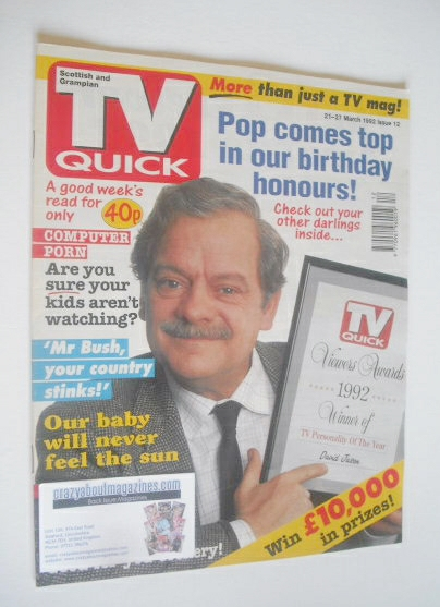 <!--1992-03-21-->TV Quick magazine - David Jason cover (21-27 March 1992)