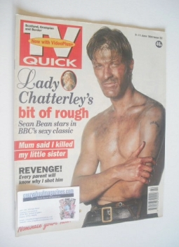 TV Quick magazine - Sean Bean cover (5-11 June 1993)