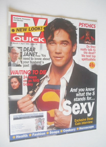 <!--1994-03-26-->TV Quick magazine - Dean Cain cover (26 March - 1 April 19