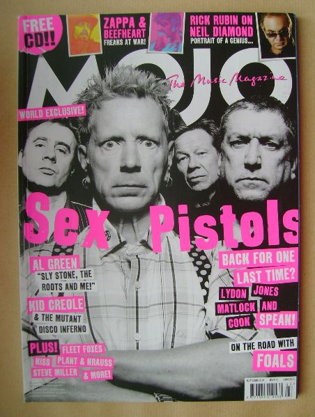 <!--2008-07-->MOJO magazine - Sex Pistols cover (July 2008 - Issue 176)