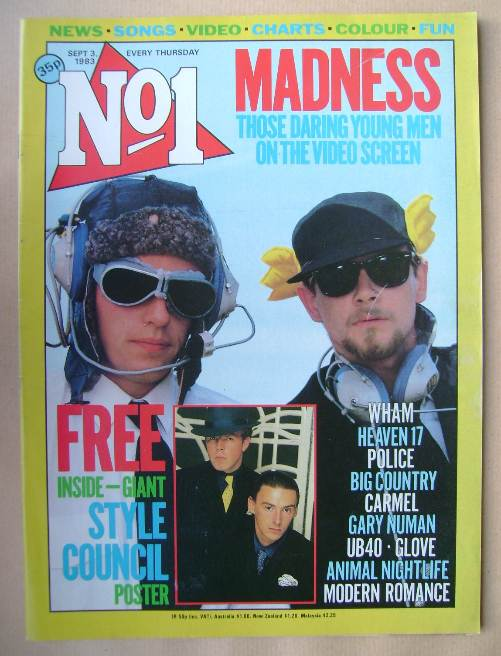 <!--1983-09-03-->No 1 magazine - Madness cover (3 September 1983)