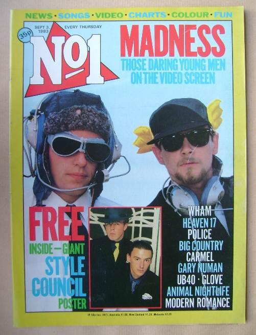 <!--1983-09-03-->No 1 magazine - Madness cover (3 September 1983)