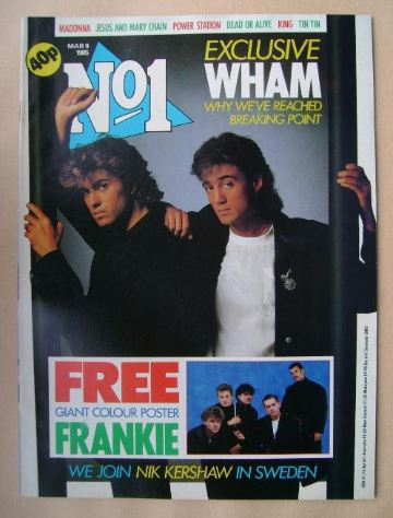 <!--1985-03-09-->No 1 Magazine - Wham cover (9 March 1985)