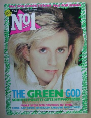 <!--1984-11-17-->No 1 Magazine - Green Gartside cover (17 November 1984)
