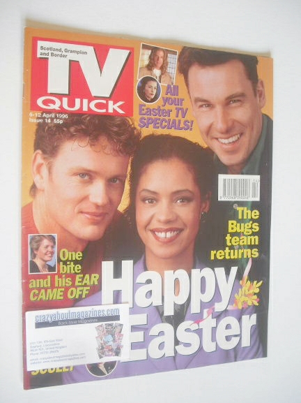 <!--1996-04-06-->TV Quick magazine - Bugs cover (6-12 April 1996)