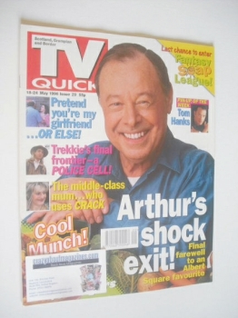 TV Quick magazine - Bill Treacher cover (18-24 May 1996)