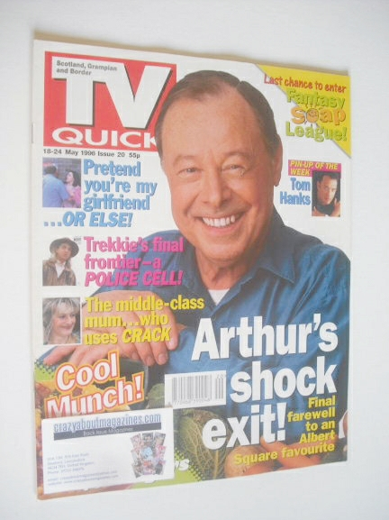 <!--1996-05-18-->TV Quick magazine - Bill Treacher cover (18-24 May 1996)