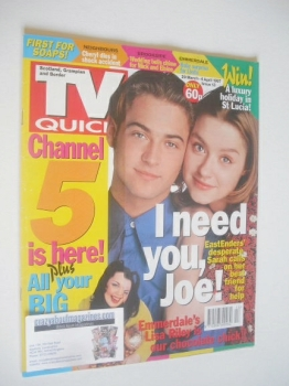 TV Quick magazine - Paul Nicholls and Daniela Denby-Ashe cover (29 March - 4 April 1997)