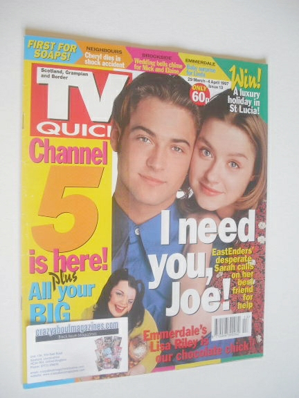 <!--1997-03-29-->TV Quick magazine - Paul Nicholls and Daniela Denby-Ashe c