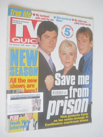 <!--1998-01-03-->TV Quick magazine - EastEnders cover (3-9 January 1998)