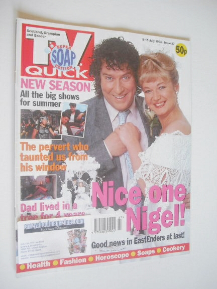 <!--1994-07-09-->TV Quick magazine - Paul Bradley and Nicola Duffett cover
