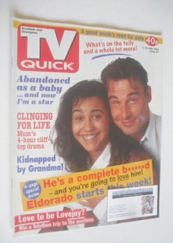 TV Quick magazine - Jesse Birdsall and Sandra Sandri cover (4-10 July 1992)