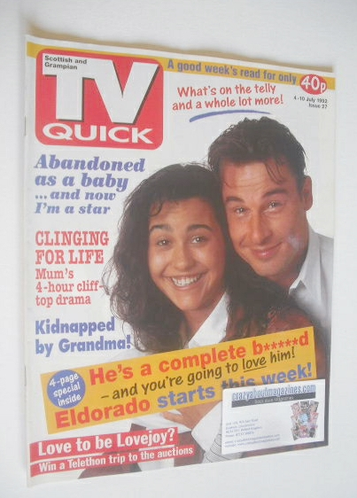<!--1992-07-04-->TV Quick magazine - Jesse Birdsall and Sandra Sandri cover