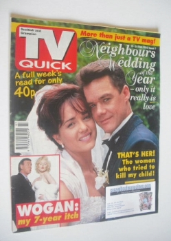 TV Quick magazine - Stefan Dennis and Gayle Blakeney cover (15-21 February 1992)