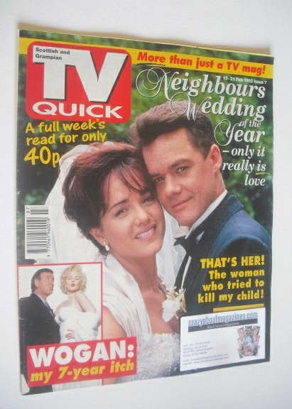 <!--1992-02-15-->TV Quick magazine - Stefan Dennis and Gayle Blakeney cover