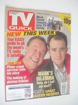 TV Quick magazine - Bill Treacher and Todd Carty cover (30 March - 5 April 1991 - First Issue)