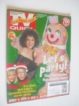 TV Quick magazine - Lesley Joseph cover (18 December 1993 - 1 January 1994)