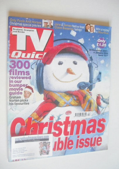 <!--2001-12-22-->TV Quick magazine - Christmas & New Year cover (22 Decembe
