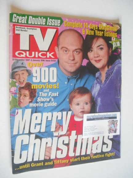 <!--1997-12-20-->TV Quick magazine - EastEnders Christmas cover (20 Decembe