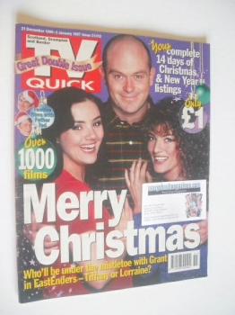 TV Quick magazine - EastEnders Christmas cover (21 December 1996 - 3 January 1997)