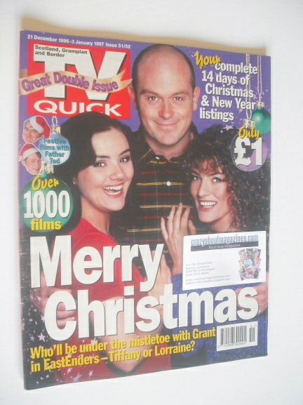 <!--1996-12-21-->TV Quick magazine - EastEnders Christmas cover (21 Decembe