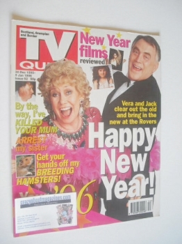 TV Quick magazine - Bill Tarmey and Liz Dawn cover (30 December 1995 - 5 January 1996)