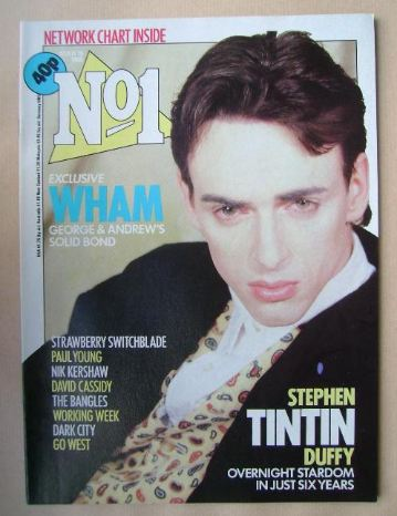 <!--1985-03-16-->No 1 Magazine - Stephen Tintin Duffy cover (16 March 1985)
