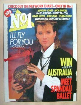 No 1 magazine - Martin Kemp cover (16 February 1985)
