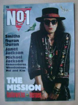 No 1 Magazine - Wayne Hussey cover (1 November 1986)
