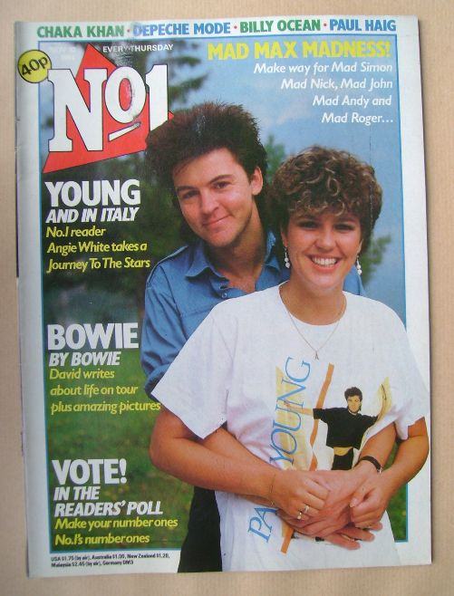 <!--1984-11-10-->No 1 Magazine - Paul Young and Angie White cover (10 Novem