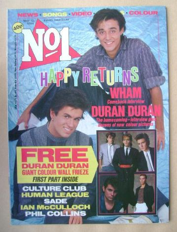 <!--1984-05-12-->No 1 magazine - Wham cover (12 May 1984)
