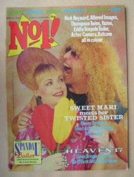 No 1 magazine - Mari Wilson and Dee Snider cover (18 June 1983)