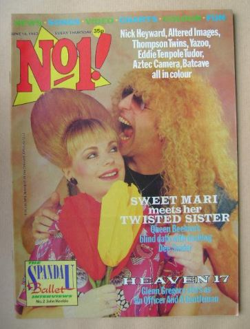<!--1983-06-18-->No 1 magazine - Mari Wilson and Dee Snider cover (18 June