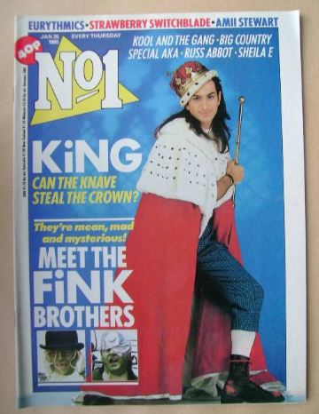 <!--1985-01-26-->No 1 Magazine - Paul King cover (26 January 1985)