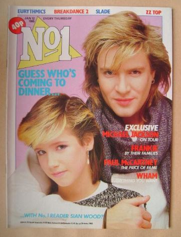 <!--1985-01-12-->No 1 Magazine - Simon Le Bon and Sian Wood cover (12 Janua