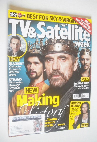<!--2012-06-30-->TV&Satellite Week magazine - Ben Whishaw, Tom Hiddleston a
