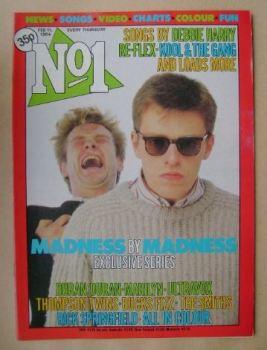 No 1 magazine - Suggs cover (11 February 1984)