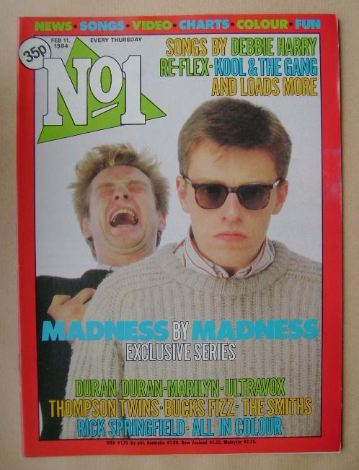 <!--1984-02-11-->No 1 magazine - Suggs cover (11 February 1984)