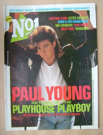 <!--1984-10-06-->No 1 Magazine - Paul Young cover (6 October 1984)